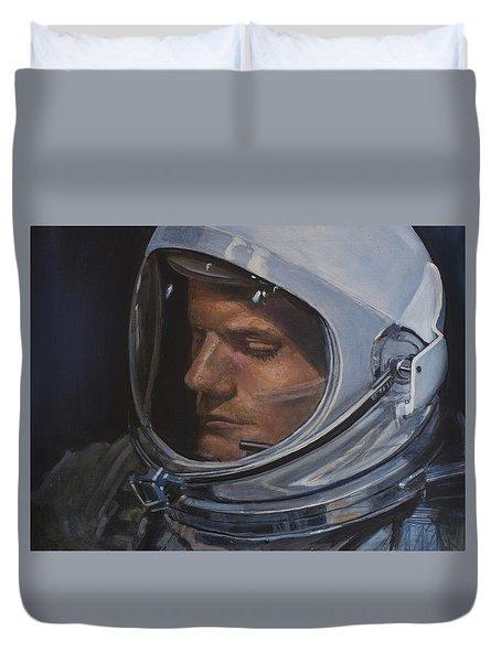 Armstrong- Gemini Viii Duvet Cover by Simon Kregar