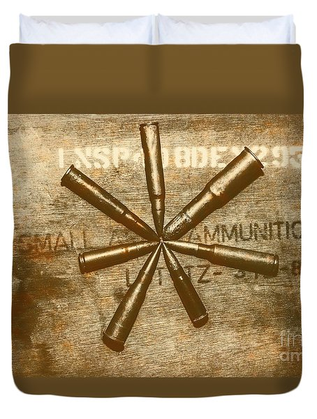 Army Star Bullets Duvet Cover
