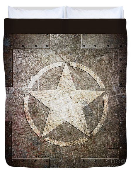 Army Star On Steel Duvet Cover