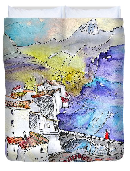 Arnedillo In La Rioja Spain 02 Duvet Cover by Miki De Goodaboom