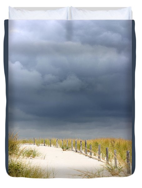 Duvet Cover featuring the photograph Around The Bend by Dana DiPasquale