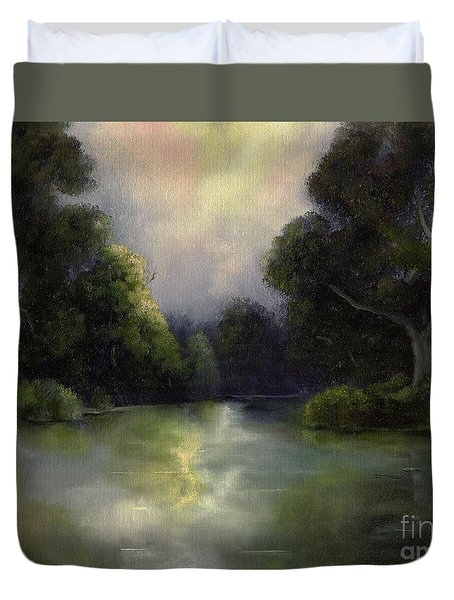 Around The Bend Duvet Cover by Marlene Book