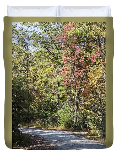 Around The Bend Duvet Cover by Ricky Dean