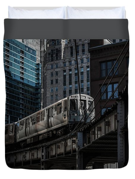 Around The Corner, Chicago Duvet Cover