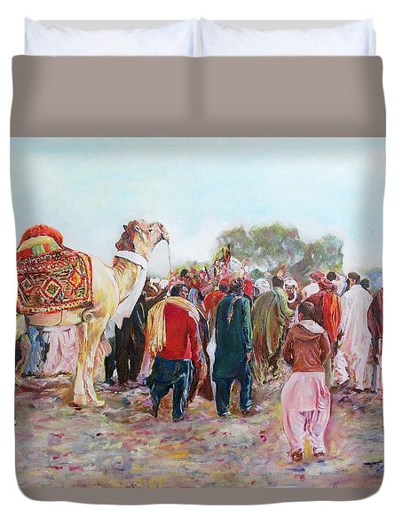 Around The Music Party Duvet Cover