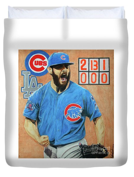 Arrieta No Hitter - Vol. 1 Duvet Cover