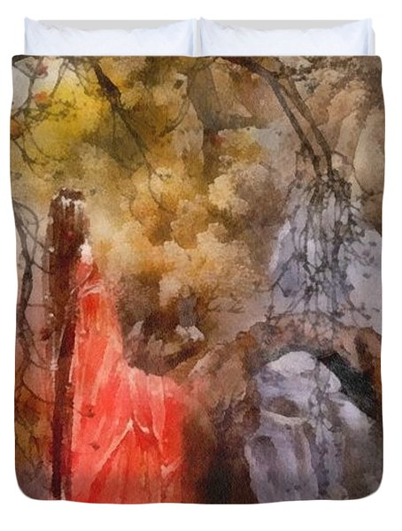 Arrival Duvet Cover by Mo T
