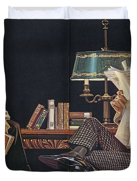 Arrow Shirt Collar Ad, 1914 Duvet Cover