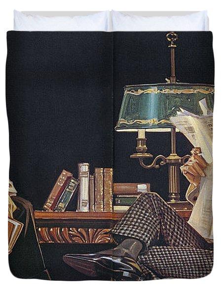 Duvet Cover featuring the photograph Arrow Shirt Collar Ad, 1914 by Granger