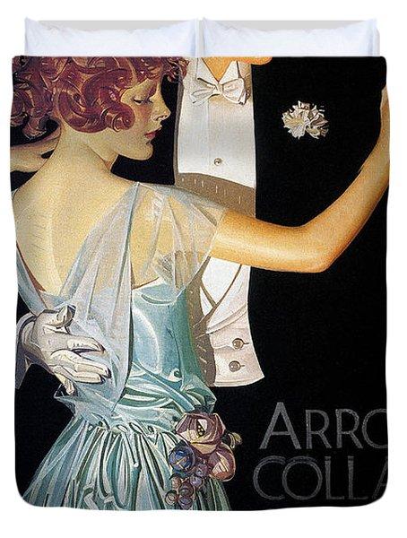 Arrow Shirt Collar Ad, 1923 Duvet Cover