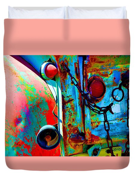 Arroyo Seco Truck Tailgate Duvet Cover