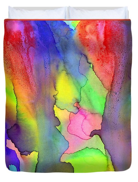 3 Art Abstract Painting Modern Color Signed Robert R Erod Duvet Cover