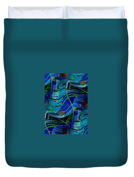 Duvet Cover featuring the digital art Art Abstract With Culture by Sheila Mcdonald
