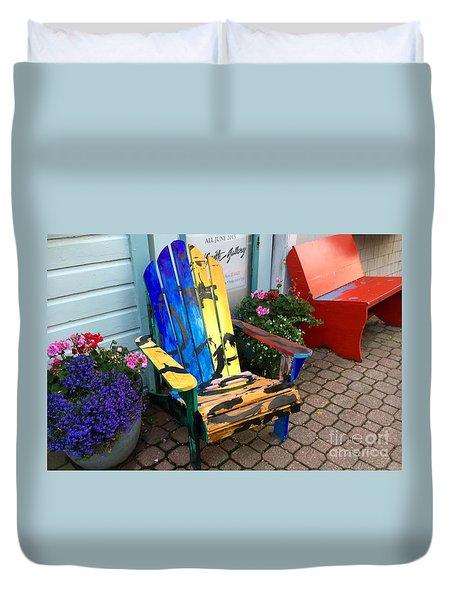 Art Adirondack Chair Boothbay Harbor Maine Duvet Cover