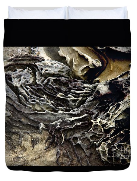 Duvet Cover featuring the photograph Art By Weather by Yumi Johnson