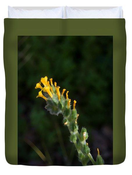 Art Dabs Of Desert Life Duvet Cover by Carolina Liechtenstein