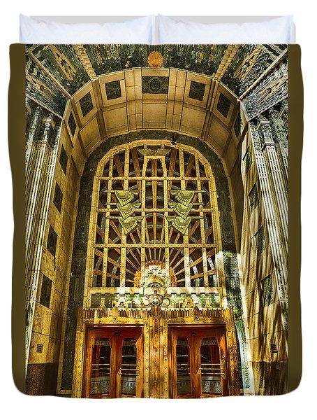 Art Deco Marine Building Duvet Cover