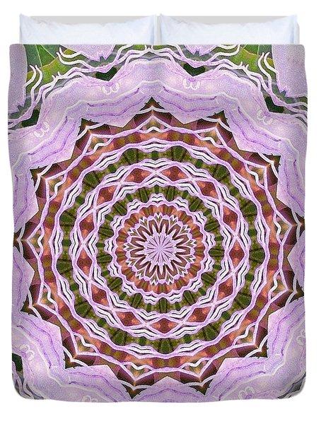 Art Deco Pink Floral Duvet Cover by Shirley Moravec