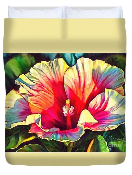 Art Floral Interior Design On Canvas Duvet Cover