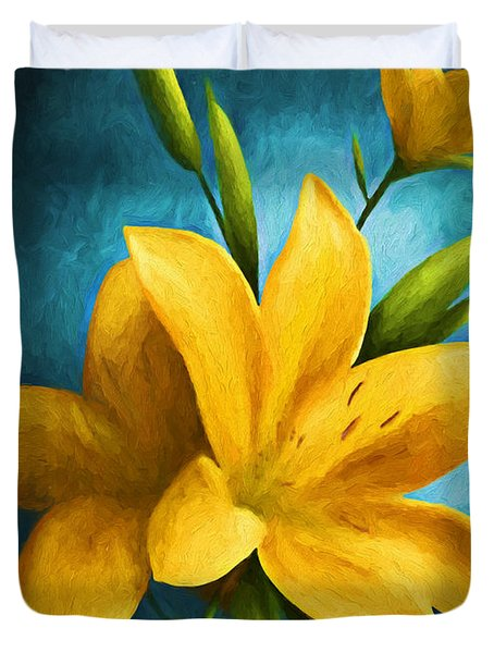 Art Flower Duvet Cover