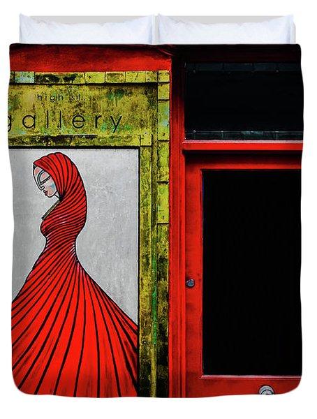 Art Gallery Shop Front Duvet Cover