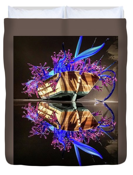 Art Glass Reflection By Chihuly Duvet Cover