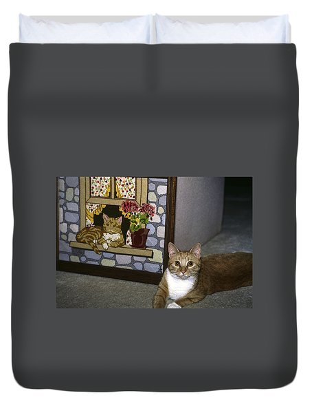 Art Imitates Life Duvet Cover by Sally Weigand