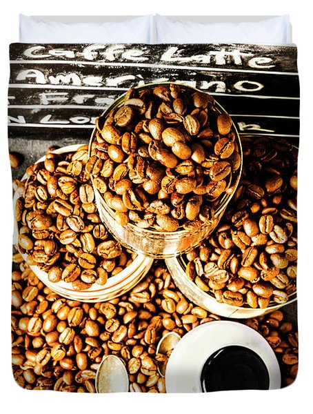 Art In Commercial Coffee Duvet Cover