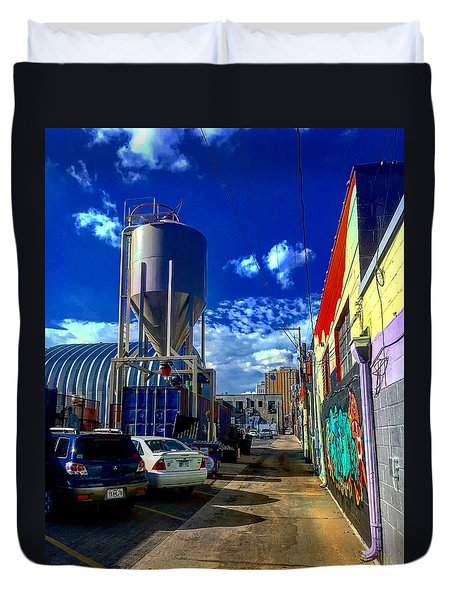 Art In The Alley Duvet Cover