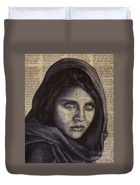 Art In The News 64-afghan Girl Duvet Cover