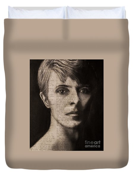 Art In The News 78-bowie Duvet Cover
