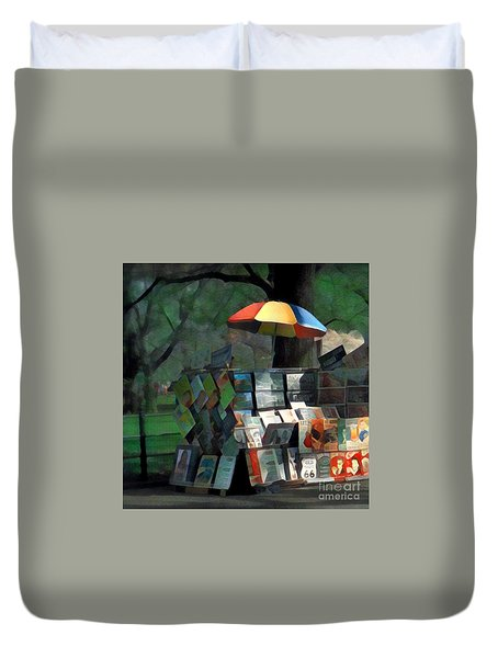 Art In The Park - Central Park New York Duvet Cover
