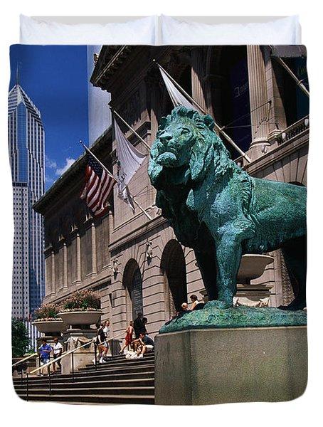 Art Institute Of Chicago Chicago Il Usa Duvet Cover