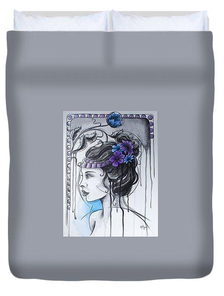 Art Nouveau Girl 1 Duvet Cover