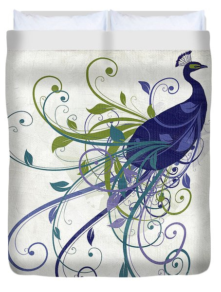 Art Nouveau Peacock I Duvet Cover