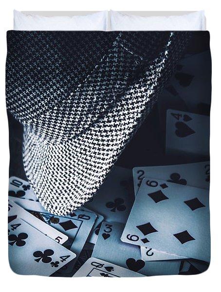 Art Of A Betting Man  Duvet Cover