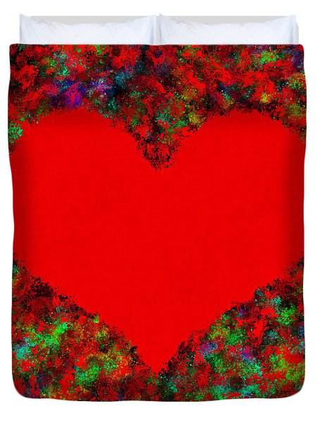 Art Of The Heart Duvet Cover by Anton Kalinichev