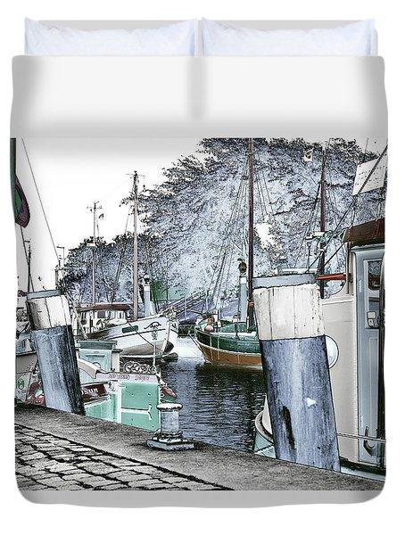Art Print Boat 2 Duvet Cover