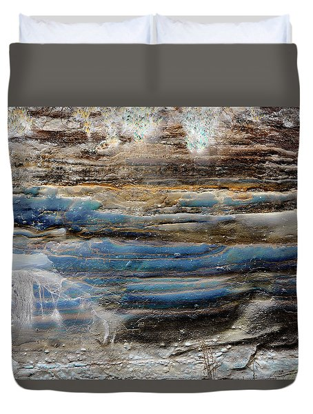 Art Print Cliff 1 Duvet Cover