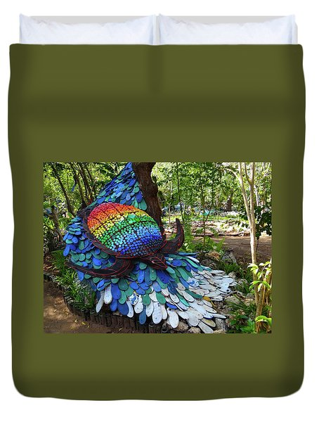 Art With Recycling - Turtle Duvet Cover