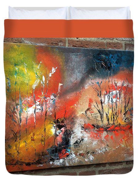 Duvet Cover featuring the painting Art Work by Sheila Mcdonald