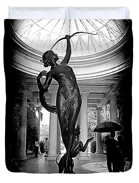 Duvet Cover featuring the photograph Artemis At Huntington Library by Lori Seaman