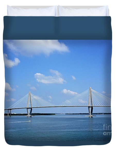 Arthur Ravenel Jr. Bridge - Charleston Duvet Cover
