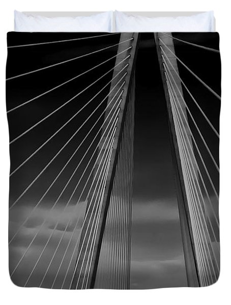 Arthur Ravenel Jr Bridge Duvet Cover