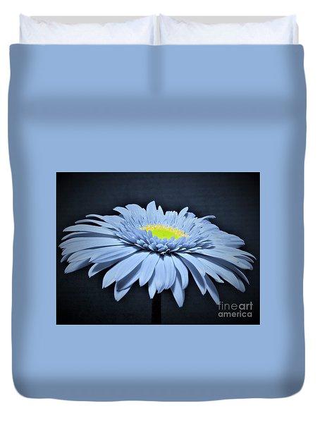 Artic Blue Gerber Daisy Duvet Cover
