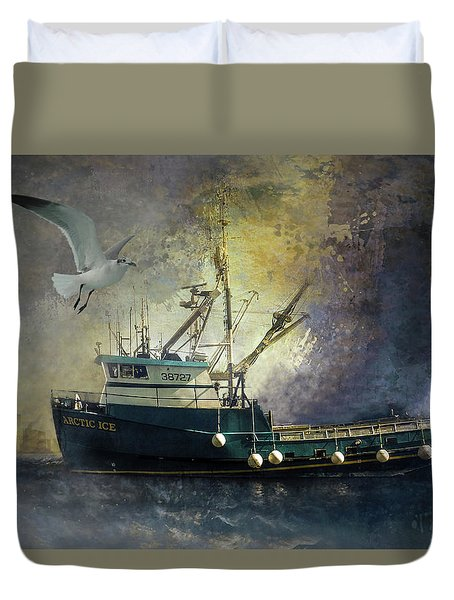 Artic Ice To Sea Duvet Cover