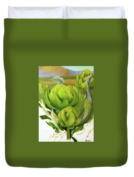 Artichoke  Unfinished Duvet Cover