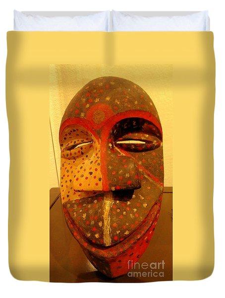 Artifact Mask Of Angola Duvet Cover