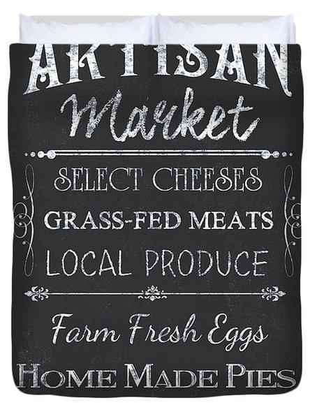 Artisan Market Sign Duvet Cover