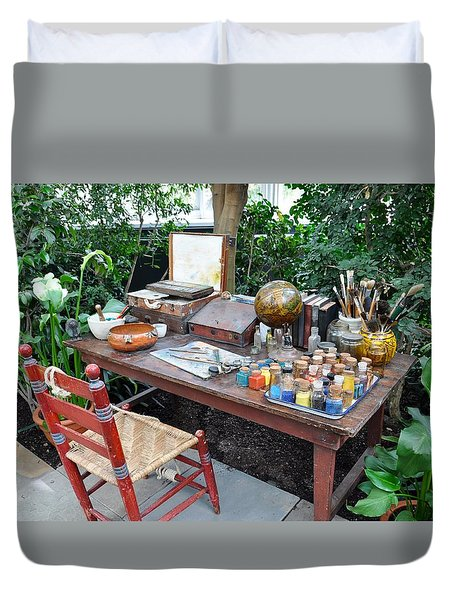 Frida Kahlo's Desk And Chair Duvet Cover